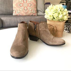 Sam Edelman Taupe Suede Ankle Booties
